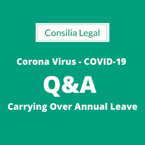carrying over annual leave during COVID-19/Coronavirus pandemic