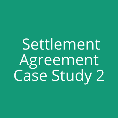 employment law - settlement agreement